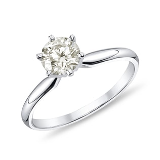 DIAMOND ENGAGEMENT RING IN WHITE GOLD - SOLITAIRE ENGAGEMENT RINGS - ENGAGEMENT RINGS