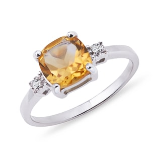 SILVER RING WITH CITRINE - CITRINE RINGS - RINGS