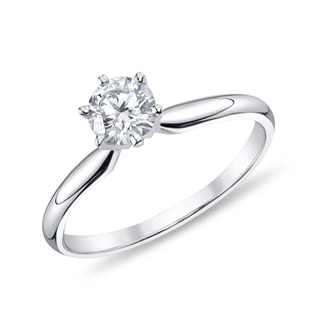 DIAMOND WHITE GOLD ENGAGEMENT RING - SOLITAIRE ENGAGEMENT RINGS - ENGAGEMENT RINGS