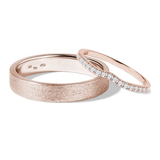 Wedding rings in 14kt rose gold