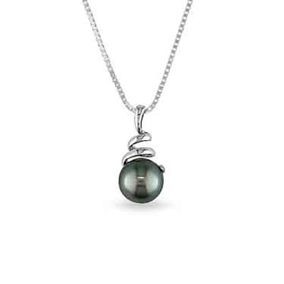 TAHITIAN PEARL NECKLACE IN 14KT GOLD - PEARL PENDANTS - PEARL JEWELLERY