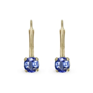SAPPHIRE EARRINGS IN 14KT GOLD - SAPPHIRE EARRINGS - EARRINGS