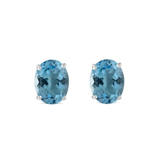 Topaz earrings in 14kt white gold