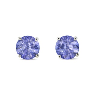 TANZANITE 14KT GOLD EARRINGS - WHITE GOLD EARRINGS - EARRINGS