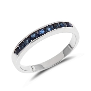 SAPPHIRE WEDDING RING IN 14KT GOLD - SAPPHIRE RINGS - RINGS