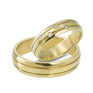 DIAMOND 14KT GOLD WEDDING RINGS - YELLOW GOLD WEDDING RINGS - WEDDING RINGS