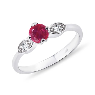 RUBY RING WITH DIAMONDS - RUBY RINGS - RINGS