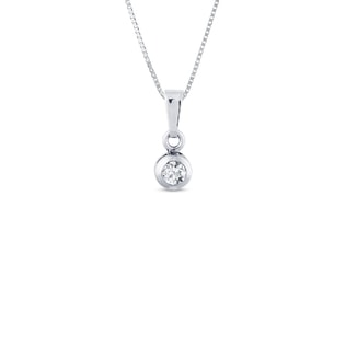 GOLD PENDANT WITH CZ STONES - WHITE GOLD PENDANTS - PENDANTS