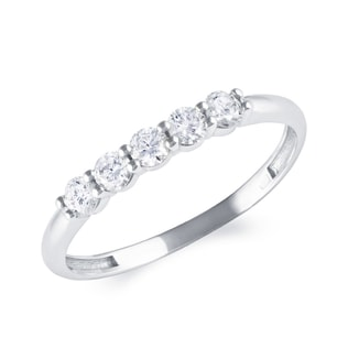 WHITE GOLD DIAMOND RING - RINGS FOR HER - WEDDING RINGS