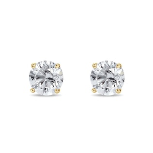 LUXURY DIAMOND EARRINGS IN 14KT GOLD - STUD EARRINGS - EARRINGS