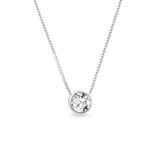 DIAMOND NECKLACE IN WHITE GOLD - DIAMOND PENDANTS - PENDANTS