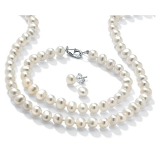 FRESHWATER PEARL SET - PEARL SETS - PEARL JEWELLERY