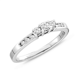 DIAMOND 14KT GOLD RING - ENGAGEMENT DIAMOND RINGS - ENGAGEMENT RINGS
