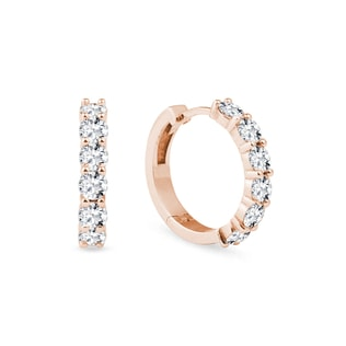 Earrings with diamonds in rose gold