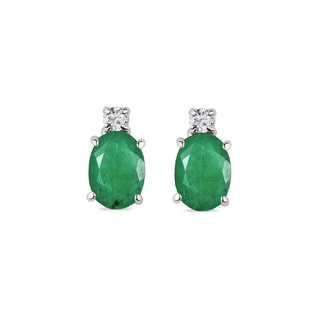 EMERALD EARRINGS IN 14KT GOLD - EMERALD EARRINGS - EARRINGS