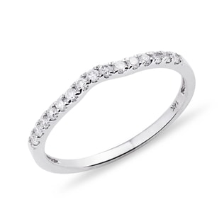 WHITE GOLD RING WITH DIAMOND - RINGS FOR HER - WEDDING RINGS