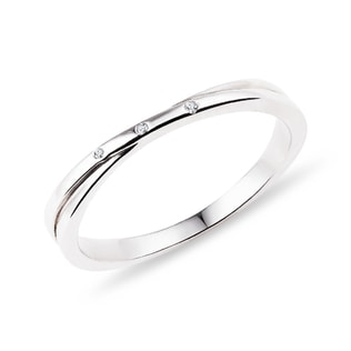 DIAMOND RING IN STERLING SILVER - RINGS FOR HER - WEDDING RINGS