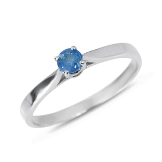 SAPPHIRE RING IN STERLING SILVER - STERLING SILVER RINGS - RINGS