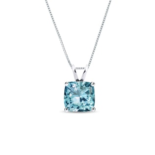 Topaz necklace in sterling silver
