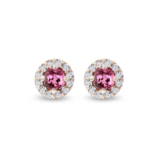 Tourmaline earrings with diamonds