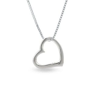 HEART PENDANT IN STERLING SILVER - HEART PENDANTS - PENDANTS