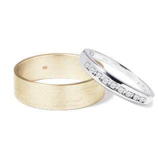 WEDDING RINGS WITH DIAMONDS - COMBINED RINGS - WEDDING RINGS