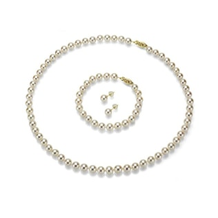 AKOYA PEARL JEWELLERY SET - AKOYA PEARLS JEWELLERY - PEARL JEWELLERY