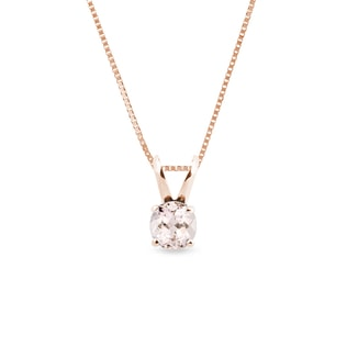 Morganite pendant in 14kt gold