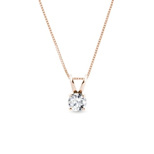 DIAMOND NECKLACE IN ROSE GOLD - DIAMOND PENDANTS - PENDANTS