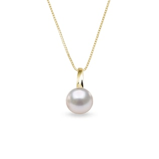 Pearl 14kt gold pendant