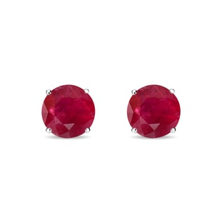 RUBY 14KT GOLD EARRINGS - RUBY EARRINGS - EARRINGS