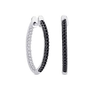 DIAMOND HOOP EARRINGS - DIAMOND EARRINGS - EARRINGS