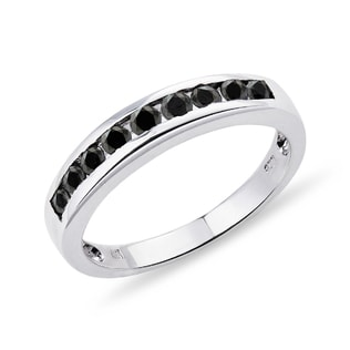 SILVER RING WITH BLACK DIAMONDS - STERLING SILVER RINGS - RINGS