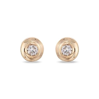 Brilliant stud earrings in 14kt solid gold