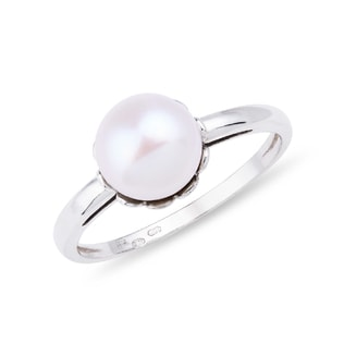 PEARL RING IN 14KT GOLD - PEARL RINGS - PEARL JEWELLERY