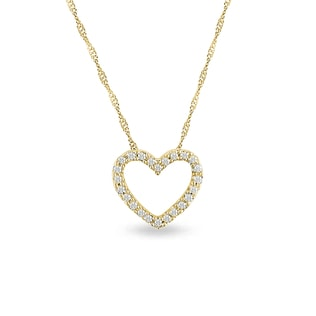 Diamond necklace in the shape of heart
