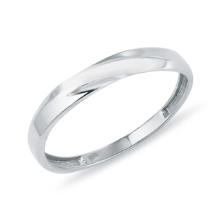 DELICATE RING MADE OF WHITE GOLD - MINIMALISTIC JEWELLERY - FINE JEWELLERY