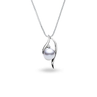 PEARL PENDANT IN 14KT WHITE GOLD - PEARL PENDANTS - PEARL JEWELLERY