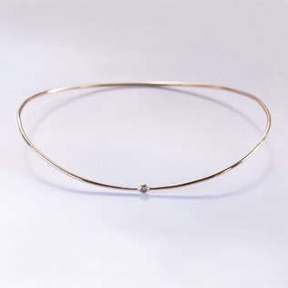 DIAMOND 14KT ROSE GOLD BRACELET - WOMEN'S BRACELETS - FINE JEWELLERY