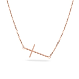 ROSE GOLD CROSS PENDANT - CROSS PENDANTS - PENDANTS