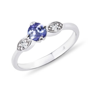 TANZANITE RING WITH DIAMONDS - TANZANITE RINGS - RINGS
