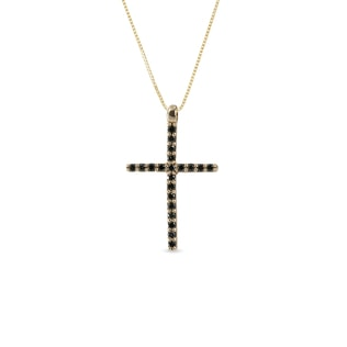 DIAMOND CROSS PENDANT IN 14KT GOLD - CROSS PENDANTS - PENDANTS