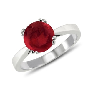RUBY RING FROM SILVER - STERLING SILVER RINGS - RINGS