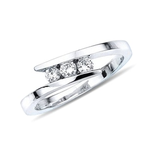 DIAMOND ENGAGEMENT RING - WHITE GOLD ENGAGEMENT RINGS - ENGAGEMENT RINGS