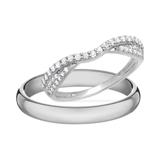 DIAMOND RING IN 14KT WHITE GOLD - DIAMOND WEDDING RINGS - WEDDING RINGS