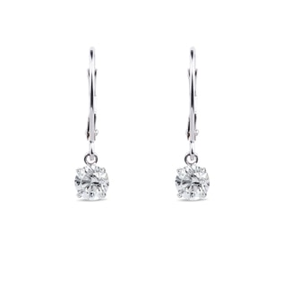 DIAMOND EARRINGS IN 14KT WHITE GOLD - DIAMOND EARRINGS - EARRINGS