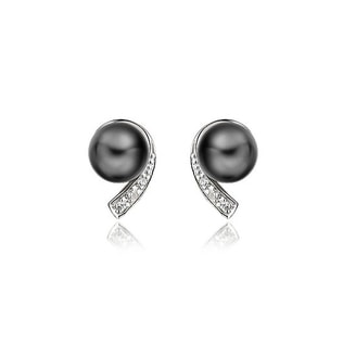 PEARL SILVER EARRINGS - PEARL EARRINGS - PEARL JEWELLERY