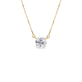 Necklace of yellow gold with diamonds