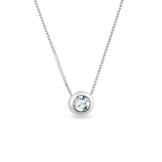 DIAMOND 14KT GOLD NECKLACE - DIAMOND PENDANTS - PENDANTS