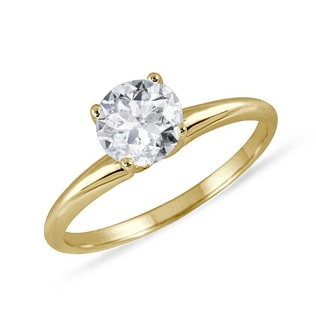 DIAMOND GOLD RING - SOLITAIRE ENGAGEMENT RINGS - ENGAGEMENT RINGS